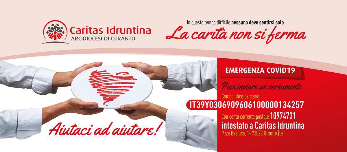 Zona Rossa - La Caritas Idruntina non si ferma