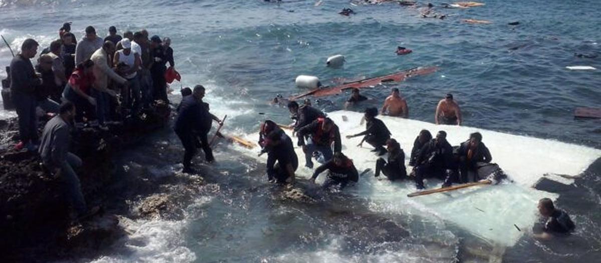 In preghiera per i migranti morti